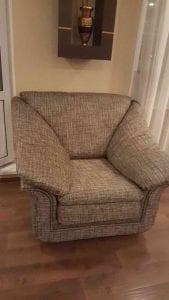 Обивка кресла шениллом