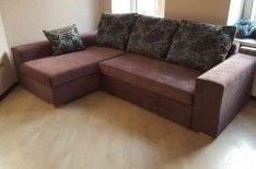 Перетяжка углового дивана СПб