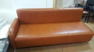 Обивка дивана кожей фото 7