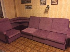 Перетяжка углового дивана фото 10