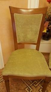 Обивка стула флоком фото 1