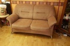 Перетяжка небольшого дивана фото