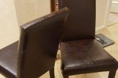 обивка стульев кожей фото5