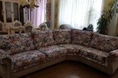 Перетяжка углового дивана фото 12